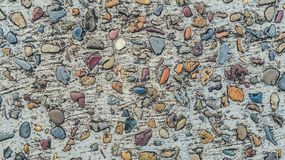 Gravel stones concrete texture colorful background Stock Images