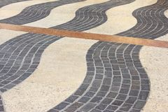 Decorative paving stones. Of different nature in Lazise, Lake Garda, Italy Stock Images