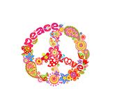 Decorative peace flower symbol Royalty Free Stock Photos