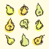 Decorative pears Royalty Free Stock Images