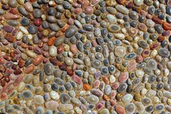 Decorative pebble background Stock Photography