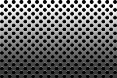 Decorative Perforated Metallic Grille Stock Photo