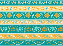 Decorative persian borders Stock Images