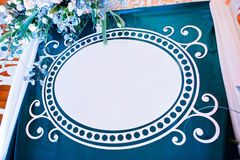 Decorative photo banner with free space for you text on wedding Royalty Free Stock Photos