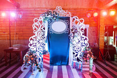 Decorative photo banner with free space for you text on wedding Royalty Free Stock Photography