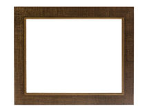 Decorative photo frame isolated on white background. Royalty Free Stock Photos