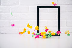 Decorative picture frame Stock Images