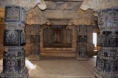 Decorative pillars in mandappa or Hall. Hazara Rama Temple Hampi, Karnataka Stock Photo