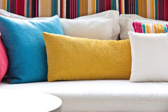 Decorative pillow. Image of Decorative pillow natural Fabric Royalty Free Stock Photography