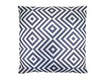 Decorative pillow with geometric pattern. Royalty Free Stock Images