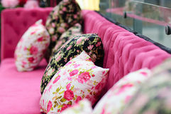 Decorative pillow in a house Royalty Free Stock Image