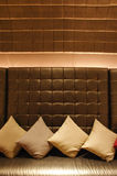Decorative pillow natural Fabric Royalty Free Stock Image