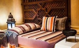 Decorative pillow natural Fabric Stock Photo