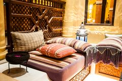 Decorative pillow natural Fabric Royalty Free Stock Photography