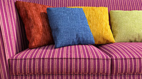Decorative pillow natural Fabric. 3d illustration Royalty Free Stock Image