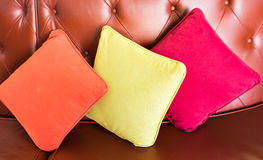 Decorative pillow natural Fabric Royalty Free Stock Images