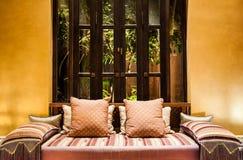 Decorative pillow natural Fabric Royalty Free Stock Photos