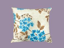 Decorative pillow with plant pattern. Stock Image