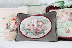 Decorative Pillow in victorian style in Living room, Luxury pill Stock Photos