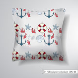 Decorative pillowcase design template. Stock Photo