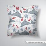 Decorative pillowcase design template. Royalty Free Stock Photo