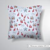 Decorative pillowcase design template. Stock Photos