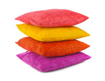 Decorative pillows. Isolated on white background Royalty Free Stock Photo