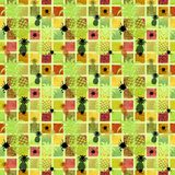 Seamless pattern on a colored background with pineapples vector illustration