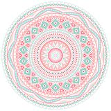 Decorative pink and blue round pattern frame Royalty Free Stock Photography