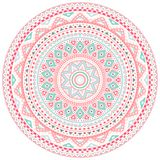 Decorative pink and blue round pattern frame Royalty Free Stock Image