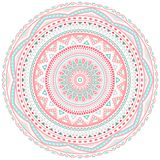 Decorative pink and blue round pattern frame Stock Photography