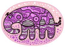 Decorative pink elephant Royalty Free Stock Photography