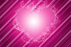Decorative Pink Heart Royalty Free Stock Photos