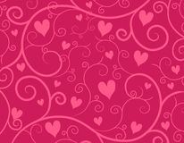 Decorative Pink Hearts Vine Background