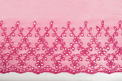 Decorative pink lace Stock Image