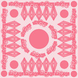 Decorative Pink Pattern Card Vector Illustration. Seamless Pattern. Decorative Pink Pattern Card Vector Illustration Stock Photography