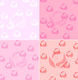 Decorative pink rose background Royalty Free Stock Photography