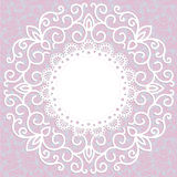 Decorative pink vintage card with a pattern Stock Image