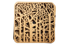 Decorative plaque with carved wood Royalty Free Stock Photo