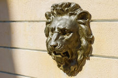 Free Decorative Plaster Bas-relief On The Wall At The Head Of A Lion Stock Images - 86469584