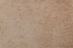 Decorative plaster. Beautiful decorative plaster brown pattern Stock Photos