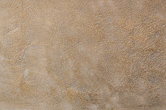 Decorative plaster. Beautiful decorative plaster brown pattern Royalty Free Stock Photo