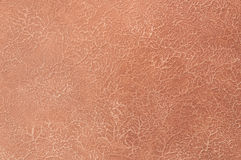 Decorative plaster. Beautiful decorative plaster brown pattern Stock Photo