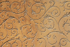 Decorative plaster. Beautiful decorative plaster brown pattern Stock Photography