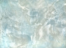 Decorative plaster blue and white colo Stock Image