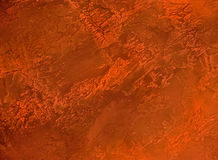 Decorative plaster red-orange3 Royalty Free Stock Images
