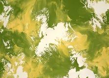 Decorative plaster yellow-green Stock Image