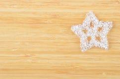 Decorative plastic snowflake Stock Photo