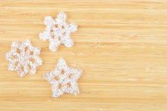 Decorative plastic snowflake Stock Image
