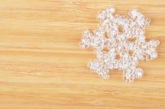 Decorative plastic snowflake Royalty Free Stock Images